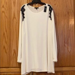 22/24 ivory swing tunic sweater NWT Lane Bryant